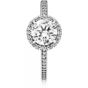 Pandora Round Sparkle Halo Ring 196250CZ