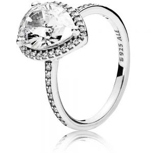 Pandora Teardrop Halo Ring 196251CZ