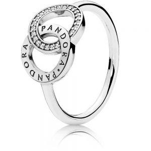 Pandora Entwined Circles Pandora Logo & Sparkle Ring 196326CZ