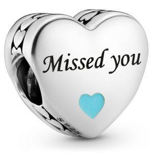 Pandora Missed You Heart Charm  792015C00_E049