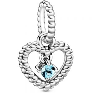 Pandora March Birthstone Heart Dangle Charm 798854C01