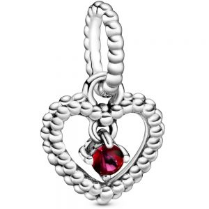Pandora July Birthstone Heart Dangle Charm 798854C02
