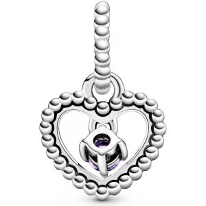 Pandora February Birthstone Heart Dangle Charm 798854C03