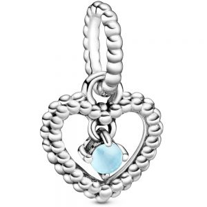 Pandora December Birthstone Heart Dangle Charm  798854C07