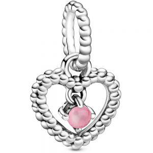 Pandora October Birthstone Heart Dangle Charm 798854C09
