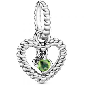 Pandora August Birthstone Heart Dangle Charm 798854C10