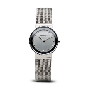 Bering Ladies Classic Polished Silver Watch - Medium 10126-000