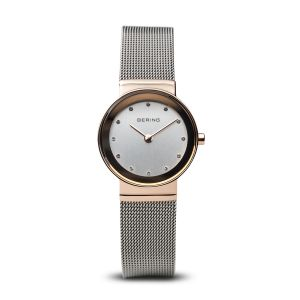 Bering Ladies Classic Polished Rose Gold Watch - Medium 10126-066