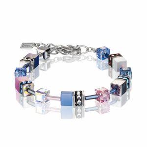 Coeur de Lion Multicoloured Blue/Rose Geocube Bracelet 2839300719
