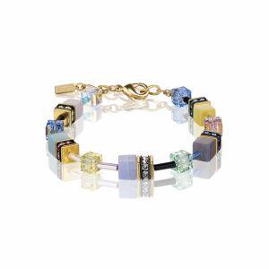 Coeur de Lion Gold Multicolour Romance GEOCUBE Bracelet 4905101566