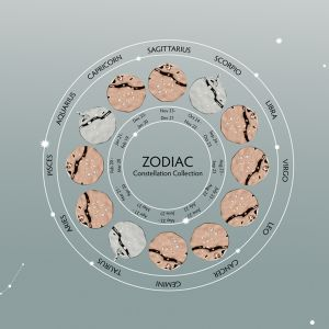 Unique & Co Zodiac Constellation Pendant - Pisces in Silver MK-617