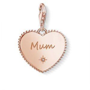 Thomas Sabo Charm Pendant, Rose Gold Heart 'Mum'