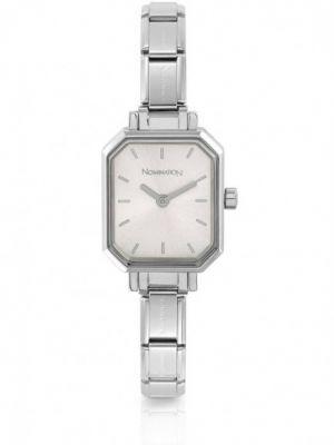 Nomination Paris Silver Rectangular Dial Charm Bracelet Watch
