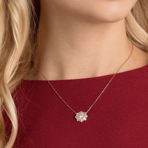 Swarovski Sunshine Pendant, White, Rose Gold Plating 5451376
