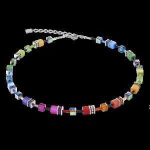 Coeur De Lion Multicolour Rainbow GeoCUBE Necklace 2838101520