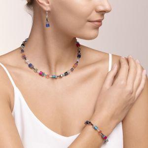 Coeur De Lion GeoCUBE Drop Earrings - Multicolour Ethno 2838201579