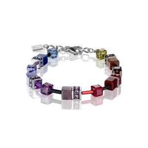 Coeur De Lion Multicolour Rainbow Dark GEOCUBE Bracelet