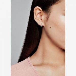 Pandora Crescent Moon & Star Beaded Hoop Earrings-299152c01