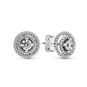 Pandora Sparkling Double Halo Stud Earrings 299411C01
