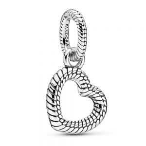 Pandora Snake Chain Pattern Open Heart Pendant 399094C00