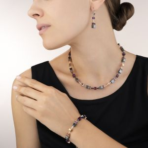 Coeur De Lion GeoCUBE Necklace - Amethyst 4015100824