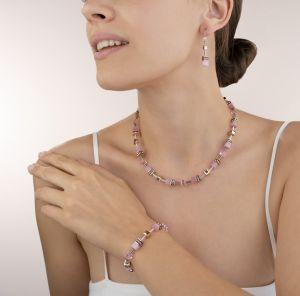Coeur De Lion GeoCUBE Necklace - Light Rose 4016101920