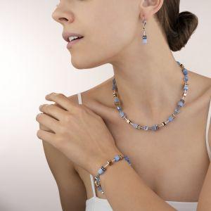 Coeur De Lion GeoCUBE Necklace - Light Blue 4016100720