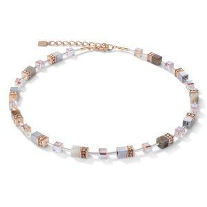 Coeur De Lion GeoCUBE Necklace - Botswana Agate in Apricot 4017100230