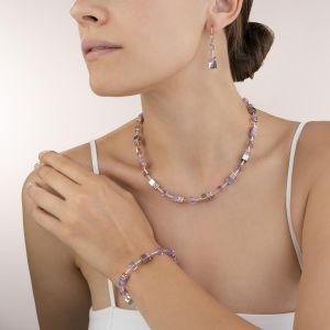 Coeur De Lion  GeoCUBE Necklace Lilac 4017100829