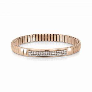 NOMINATION Steel XTE bracelets and Swarovski Fin. Rose GOLD White