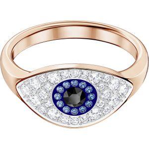 Swarovski Symbolic Evil Eye Ring - Blue with Rose Gold Plating
