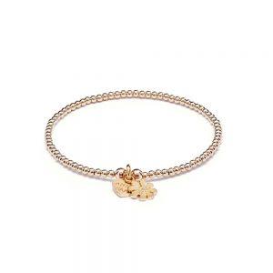 Annie Haak Santeenie Gold Charm Bracelet - Teeny Daisy - B0973-17