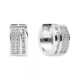 Sif Jakobs Corte Piccolo Earrings - Silver and White Zirconia SJ-E1028-CZ