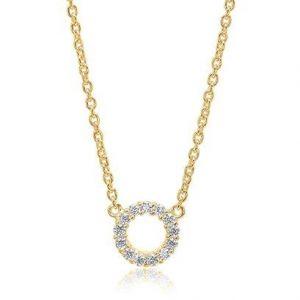 Sif Jakobs Biella Piccolo Necklace - Gold with White Zirconia SJ-C337-CZYG