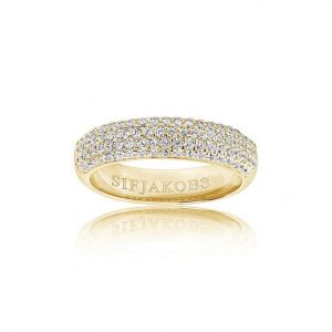 Sif Jakobs Melazzo Ring - Gold with White Zirconia SJ-R015-CZYG