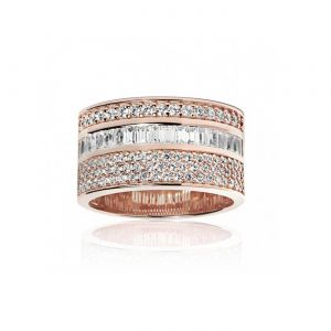Sif Jakobs Corte Grande Ring - Gold with White Zirconia R11173-CZYG