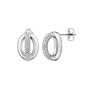 Calvin Klein Statement Stainless Steel and Crystal Stud Earrings