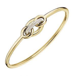 Calvin Klein Statement Gold Tone and Crystal Bracelet