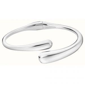 Calvin Klein Ellipse Silver Tone Open Bangle