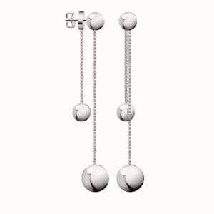Calvin Klein Unpaired Silver Tone Drop Earrings