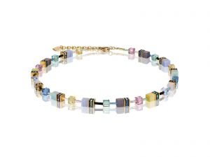 Coeur De Lion Crystals & Gemstones Multicolour Romance GEOCUBE Necklace 49051015666