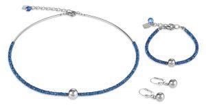 Coeur De Lion Hematite Blue and Stainless Steel Bracelet
