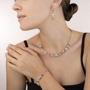 Coeur De Lion Rose Gold and Silver Crystal Necklace 4938101631