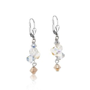 Coeur De Lion Rose Gold and Silver Crystal Earrings 4938201631