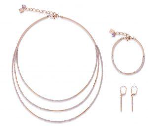 Coeur De Lion Rose Gold and Glass Bracelet
