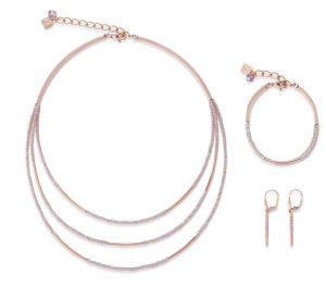 Coeur De Lion Rose Gold and Glass Necklace