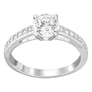 Swarovski Attract Round Ring, White, Rhodium Plating 5032919, 5032921, 5032922, 5032923