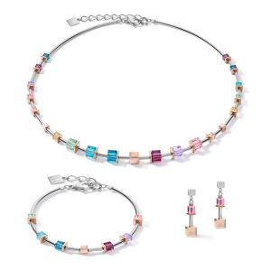 Coeur De Lion GeoCUBE Drop Earrings - Multicolour Art Nouveau 5062211578