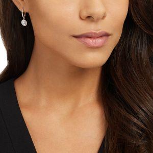 Swarovski Attract Light Pierced Earrings, White, Rhodium Plating 5142721