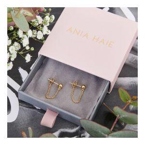 Ania Haie Modern Chain Stud Earrings - Gold E002-06G